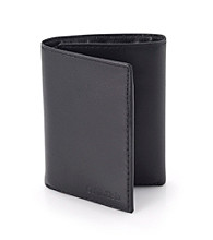 Calvin Klein Men's Leather Trifold - Black