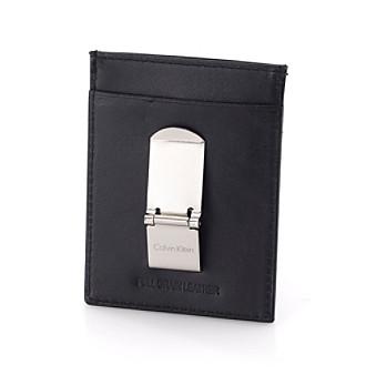 Calvin Klein Men's Front Pocket Wallet - Black