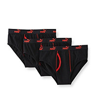 PUMA® Men's 3-Pack Briefs - Black