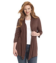 AGB® Plus Size Openfront Cozy Cardigan