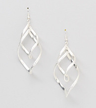 Relativity® Spiral Chandelier Earrings - Silvertone
