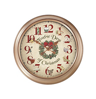 Product LivingQuarters 12 Days of Christmas Clock from carsons.com