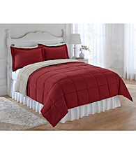 LivingQuarters Reversible Microfiber Down-Alternative Comforter