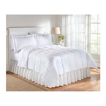 LivingQuarters White Microfiber Comforter