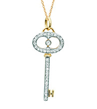 0.2 ct. t.w. Diamond Oval Key Pendant Necklace