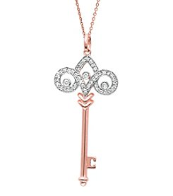 0.25 ct. t.w. Diamond Fleur de Lis Pendant Necklace
