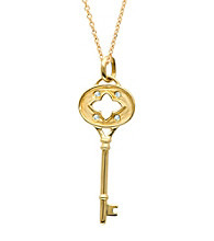 0.03 ct. t.w. Diamond Clover Key Pendant Necklace