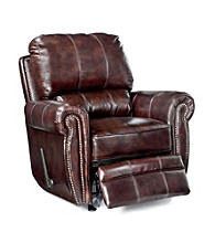 Lane® Rockford Brown Glider Rocker Recliner