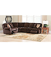 Lane® Megan Chocolate 4-pc. Reclining Sectional