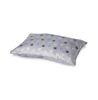 John Bartlett Pet Grey Paw Print Pet Bed