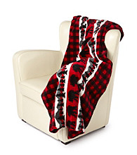 Denali® Oversized Bear Plaid Microplush Throw