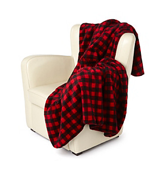 Denali® Oversized Buffalo Check Microplush Throw
