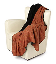 Denali® Oversized Loop-Knit Melange & Black Throw