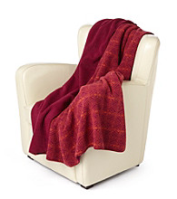 Denali® Oversized Loop-Knit Fairisle & Magenta Throw