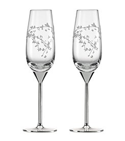 kate spade new york® Gardner Street Pair of Champagne Flutes