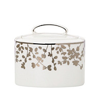 Kate Spade New York® Gardner Street Platinum Covered Sugar Bowl