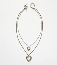 Nine West Vintage America Collection® Double Drop Pendant Necklace - Gold/Silver
