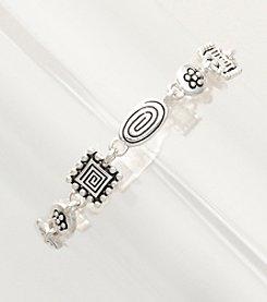 Napier® Silvertone Etched Bracelet