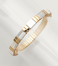 Napier® Two Tone Stretch Bracelet - Goldtone/Silvertone