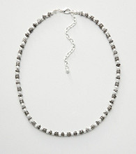 Napier® Beaded Necklace - Silvertone