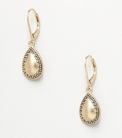 Napier® Teardrop Earrings - Antique Goldtone