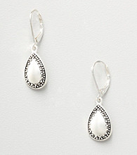 Napier® Teardrop Earrings - Silvertone
