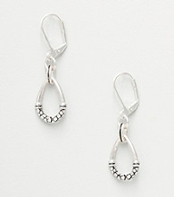 Napier® Oval Drop Earrings - Silvertone