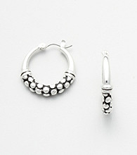 Napier® Oval Hoop Earrings - Silvertone