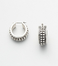 Napier® Antique Hoop Earrings - Silvertone