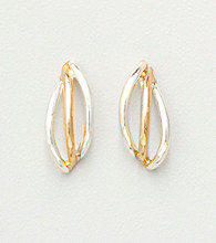 Napier® Open Wedding Band Earrings - Silver/Gold