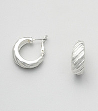 Napier® Etched Hoop Earrings