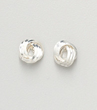 Napier® Knotted Stud Earrings - Silvertone