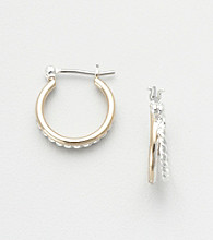 Napier® Twist Hoop Earrings - Gold/Silver