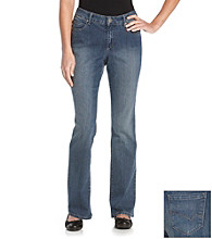 Relativity® Flawless Bootcut Denim Fender Wash Jeans