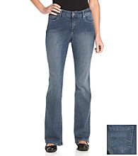 Relativity® Casual Petites' Flawless Bootcut Denim Fender Wash Jeans