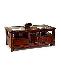 Magnussen® Home Tanner Rectangular Cocktail Table with Storage Basket