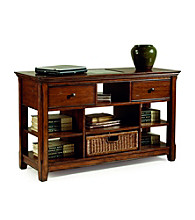 Magnussen® Home Tanner Sofa Table with Storage Basket