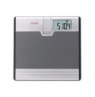 Taylor® Projection Bath Scale - Gray/Silver
