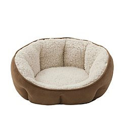 Soft Touch Tan & Ivory Tufted Euro Cuddler Dog Bed