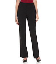 Chaus Black Straight-Leg Emma Pants
