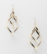 Relativity® Spiral Chandelier Earrings - Goldtone