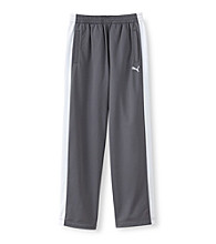 PUMA® Boys' 8-20 Grey/White Tricot Track Pants