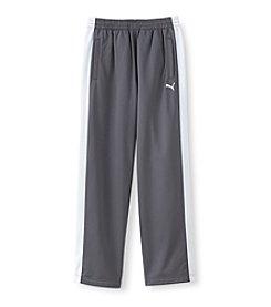PUMA® Boys' 8-20 Grey/White Tricot Track Pants
