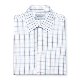 John Bartlett Statements Men's Slim Fit Dress Shirt - Navy