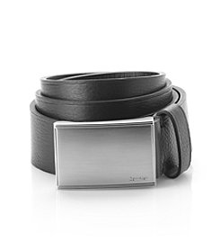 Calvin Klein Men's Flat Strap with Heat Crease Belt
