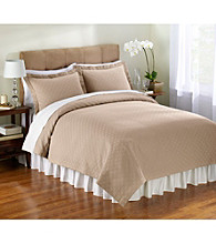 Matelasse Taupe Coverlet Bedding Collection by Charisma®