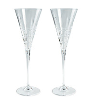 Lauren Ralph Lauren Cocktail Party Pair of Champagne Flutes