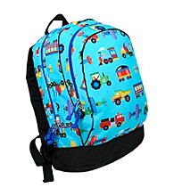 Wildkin Olive Kids Trains, Planes & Trucks Sidekick Backpack - Blue
