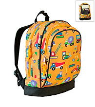 Wildkin Olive Kids Under Construction Sidekick Backpack - Orange
