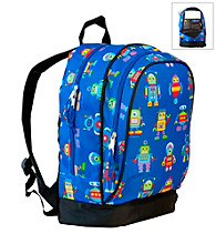 Wildkin Olive Kids Robots Sidekick Backpack - Blue